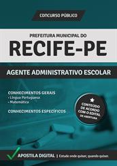 Apostila Digital Prefeitura de Recife-PE - Agente Administrativo Escolar - Grátis Simulados Online