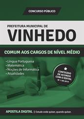 Apostila Digital Prefeitura de Vinhedo-SP - Comum aos Cargos de Nível Médio