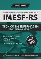 Apostila Digital IMESF Porto Alegre-RS - 2014 - Técnico em Enfermagem - Grátis Simulados Online