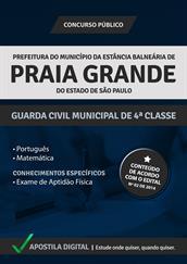 Apostila Digital Prefeitura Praia Grande-SP - Guarda Municipal de 4°Classe - Grátis Simulados Online