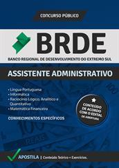 Apostila Digital BRDE – Assistente Administrativo