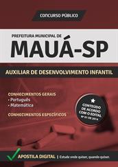 Apostila Concurso Prefeitura de Mauá-SP - Auxiliar de Desenvolvimento Infantil - Grátis Simulados Online