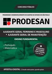 Apostila Digital PRODESAN-SP - Para Ajudante Geral - Grátis Simulados Online