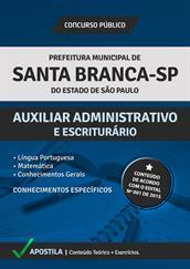 Apostila Digital Prefeitura de Santa Branca-SP – Auxiliar Administrativo e Escriturário