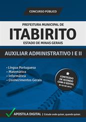Apostila Digital Prefeitura de Itabirito-MG - Auxiliar Administrativo l e ll