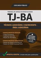 Apostila Digital TJ-BA - Técnico Judiciário - Escrevente Área Judiciária