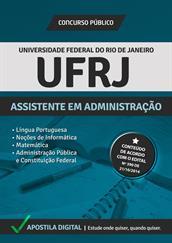 Apostila Digital UF-RJ - Assistente em Administração