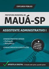 Apostila Concurso Prefeitura de Mauá-SP 2014 - Assistente Administrativo l - Grátis Simulados Online