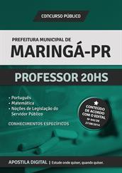 Apostila Prefeitura de Maringá-PR - Professor 20hs