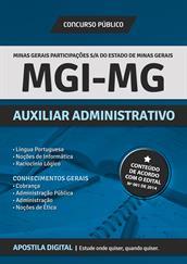 Apostila Digital MGI-MG - Auxiliar Administrativo