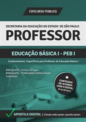 Apostila Digital SEE-SP - Professor- Educação Básica l - PEB l