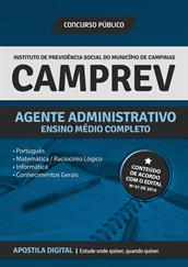 Apostila Digital CAMPREV - Agente Administrativo - Campinas + Questões Comentadas e Simulados