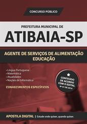 Apostila Digital Prefeitura de Atibaia-SP - Agente de Serviços de Alimentação - Educação