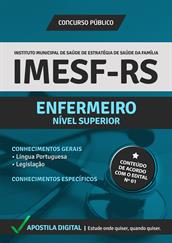 Apostila Digital IMESF Porto Alegre-RS - 2014 - Enfermeiro - Grátis Simulados Online