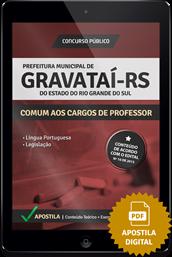 Apostila Digital Concurso Gravataí - RS - Professor