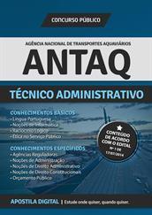 Apostila Digital ANTAQ para Técnico Administrativo