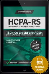 Apostila Digital Concurso HCPA - RS 2015 – Técnico em Enfermagem