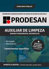 Apostila Digital PRODESAN-SP - Auxiliar de Limpeza - Grátis Simulados Online