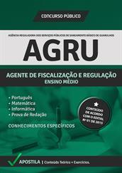 Apostila Digital AGRU – Agente de Fiscalização e Regulação