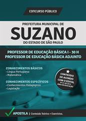 Apostila Digital Prefeitura de Suzano-SP - PEB l e PEB ll Adjunto