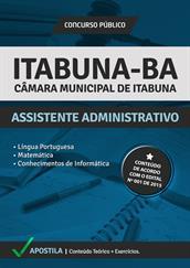 Apostila Digital Câmara de Itabuna-BA – Assistente Administrativo
