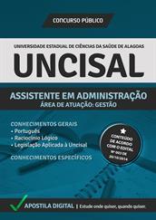 Apostila Digital UNCISAL-AL - Assistente em Administração - Área Gestão