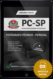Apostila Digital PC – SP – Fotógrafo Técnico Pericial