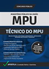 Apostila Digital Ministério Público - Técnico do MPU