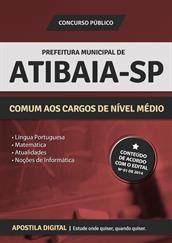 Apostila Digital Prefeitura de Atibaia-SP - Comum aos Cargos de Nível Médio