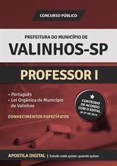 Apostila Digital Prefeitura de Valinhos-SP - Professor l
