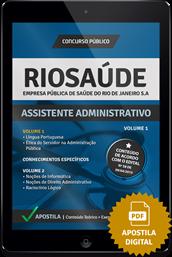 Apostila Digital Concurso Rio Saúde 2015 – Assistente Administrativo