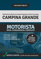 Apostila Digital Prefeitura de Campina Grande-PB - Motorista - Grátis Simulados Online