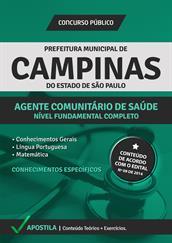 Apostila Prefeitura de Campinas-SP - Agente Comunitário de Saúde