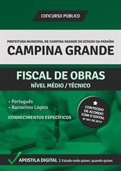 Apostila Digital Prefeitura de Campina Grande-PB - Fiscal de Obras