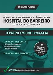 Apostila Concurso Hospital do Barreiro-BH 2015 – Técnico em Enfermagem