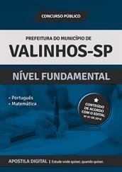 Apostila Digital Prefeitura de Valinhos-SP - Nível Fundamental