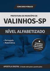Apostila Digital Prefeitura de Valinhos-SP - Nível Alfabetizado