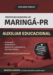 Apostila Prefeitura de Maringá-PR - Auxiliar Educacional