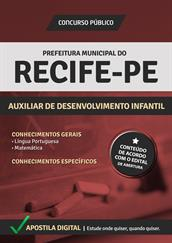 Apostila Digital Prefeitura de Recife-PE - Auxiliar de Desenvolvimento Infantil - Grátis Simulados Online