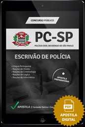 Apostila Digital PC – SP – Escrivão de Polícia