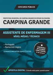 Apostila Digital Prefeitura de Campina Grande-PB - Assistente de Enfermagem lll