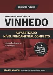 Apostila Digital Prefeitura de Vinhedo-SP - Comum aos Cargos de Nível Fundamental Completo