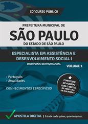 Apostila Digital Prefeitura de São Paulo-SP - Especialista em Assistência e Desenvolvimento Social l