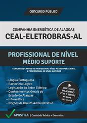 Apostila Digital CEAL-ELETROBRAS-AL - Profissional de Nível Médio e Suporte