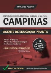 Apostila Digital Prefeitura de Campinas-SP - Agente de Educação Infantil - Grátis Simulados Online