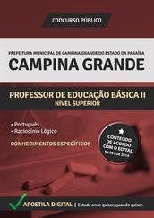 Apostila Digital Prefeitura de Campina Grande-PB - Professor de Educação Básica ll