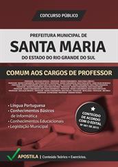Apostila Digital Prefeitura de Santa Maria-RS - Comum aos Cargos de Professor