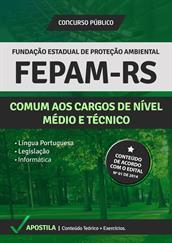 Apostila FEPAM-RS - Cargos de Nível Médio e Técnico