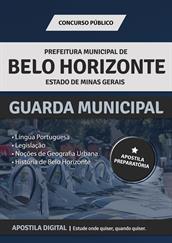 Apostila Prefeitura de Belo Horizonte - MG para Guarda Municipal
