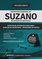 Apostila Digital Prefeitura de Suzano-SP - Auxiliar de Atividades Escolares, Auxiliar de Secretaria e Secretário de Escola